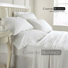 Hotel * Brand White 1000TC Bedding Set 100%Egyptian Cotton In  Solid & Striped