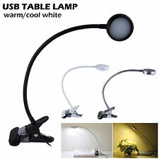 Bright 5050 SMD LED USB Rechargable Reading Desk Table Lamp Study Bed Side Light