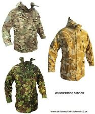 BRITISH ARMY CAMO SURPLUS SMOCK FIELD WINDPROOF COMBAT JACKET FISHING