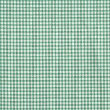 French Country Pool Green Gingham Shower Curtain with Ruffle