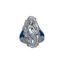 Sea Maiden Mermaid .925 Sterling Silver Ring by Peter Stone
