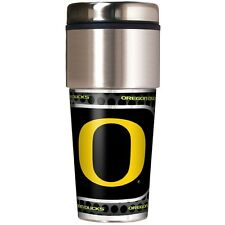 OREGON DUCKS 16oz Stainless Insulated Travel Tumbler w/Metallic Wrap