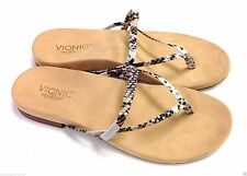 Vionic Orthaheel Santiago Leather Thong Sandal w/ Arch Support