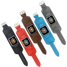 New Genuine Leather Strap Cuff Bracelet Watch Bands For Apple Watch 1/series 2