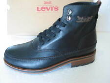 BNIB MENS Levi's STRAUSS LEVIS BLACK LEATHER ANKLE BOOTS VARIOUS SIZES