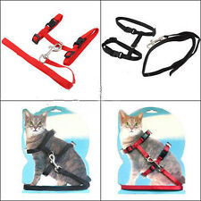 Nylon Pet Cat Kitten Adjustable Harness Lead Leash Collar Belt Safety Rope Hot T