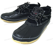 NIB Mens Short Duck Boots Suede Insulated Waterproof Rain Boat Snow Winter Shoes