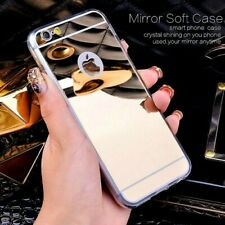 """Gold Ultra Thin Mirror/Make Up Soft Jelly Case Cover For iPhone 6/6s PLUS (5.5"""")"""