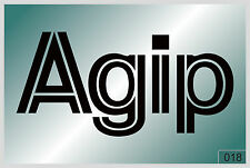Agip -200 mm decal sticker on car - HIGH QUALITY - best price - #018