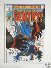 THE SENTRY #7 VARIANT COVER 1ST PRINT SIGNED BY BENDIS & STEVE MCNIVEN
