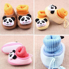 Newborn Baby Boy Girl Anti-slip Indoor Warm Soft Sole Panda Shoes 0-1Y