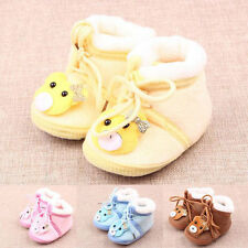 Newborn Baby Boy Girl Anti-slip Indoor Warm Soft Sole Cartoon Bear Shoes