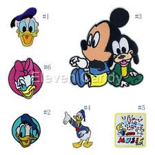 Mickey Mouse Donald Duck Embroidered Motif Applique Iron On Patch Sewing Clothes
