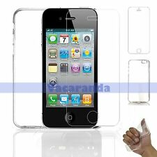 TEMPERED GLASS SCREEN PROTECTOR + BACK SOFT GEL CASE FOR IPHONE 5 / IPHONE 5S SE