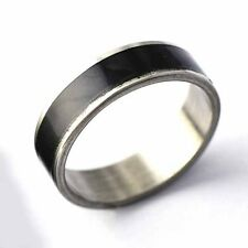 Mens/Womens Stainless Steel wedding Black Band Ring Size 7-11 free shipping