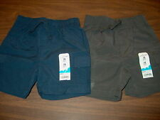NWT Jumping Beans Baby Boys Cargo Shorts 6 or 18 Months Elastic Waist Blue Gray