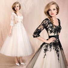 Size Stock 8-22 Prom Evening Cocktail Party Hot Sexy lace Ball Gown Formal Dress