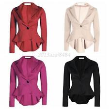 Women One Button Slim Casual Business Blazer Suit Jacket Coat Outerwear Clothing