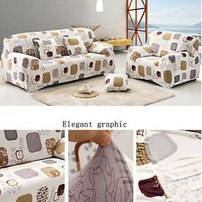 1/2/3 Seater Stretch Slipcover Sofa Skid Cover Couch Protector Pillowcase Grid