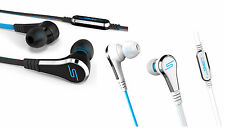 SMS Audio STREET by 50 In-Ear Wired Headphone 3.5mm Connector Black White Bass