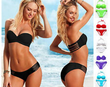 Sexy Women Bikini Set Push-up Padded Bra Bandeau Swimwear Swimsuit Bathing Suit