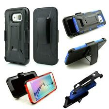 Heavy Duty Shockproof Tough Armor Hard Case Cover + Belt Clip For Galaxy Note 5