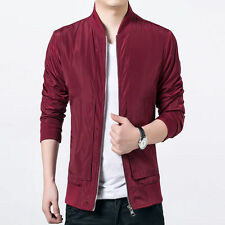 Men's Stylish Slim Fit Long Sleeve Color Solid Casual Thin Coat Jacket Outwear