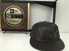 New Era 59 Fifty MLB NY Yankees Fitted Leather BROWN/BROWN LOGO