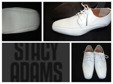 New Stacy Adams Boys Dress Shoe>White>Communion>Baptism/>Size 11 Toddler 7 Youth