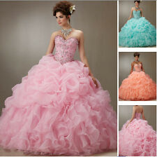 New 2016 Quinceanera Dresses Formal Prom Party Pageant Ball Dresses Bridal Gowns