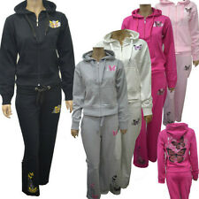 Women Girls Butterfly Hoodie Track Suit Top Jog Jogging Bottoms Trousers S-X