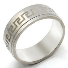 Fashion jewelry Dentate Pattern Mens Stainless Steel Ring size 7 8 9 10 11 12