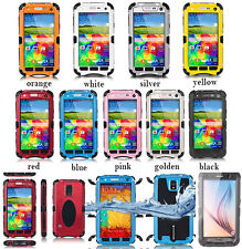 Samsung Galaxy S5 S6 S4 NOTE 3 4 Waterproof Shockproof Case Glass Mental Cover
