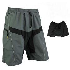 MTB Loose Fit Cycling Shorts Padded Leisure Bike Bicycle Casual Pants 3 Style