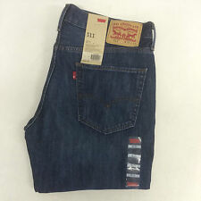 GENUINE MENS LEVIS 511 SLIM FIT JEANS (BLUE ENZYME STONE WASH) 511537K22