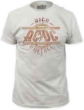 AC/DC - High Voltage (Slim Fit) T-Shirt Off-White New Shirt Tee