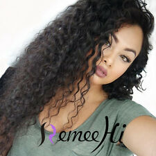 "New Sexy Woman Curly Lace Front/Full Wig 12""-24"" 100% Real Brazilian Human Hair"