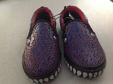 BNWT BOYS SIZE 11 MONSTER REPTILE PRINT CANVAS CASUAL SLIP ON SHOES NEW