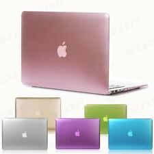 Metallic Paint Matte Case for Macbook Air Pro Retina 11 12 13 15 +Keyvoard Cover