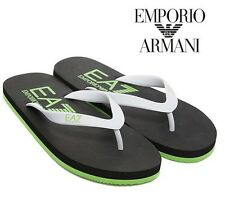Emporio Armani EA7 Mens Colours Flip Flops Beach Sandals *NEW UK size 10.5, 11.5