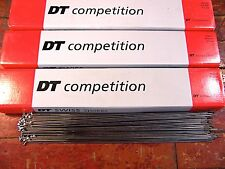 DT SWISS Competition Silver Spokes 2.0/1.8mm Dbl Butted *Any Qty**Any Length*NEW