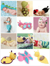 Crochet Knit Baby Costume Hat Photography Prop NewBorn Clothes Boys Girls