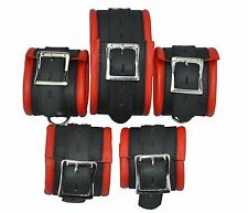 9960 Original Leather 5 X Restraints Set,Bondage padded,Fesselset,foot+Hand,Neck