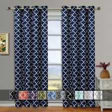 Set of 2 Panels- Meridian Thermal Insulated Blackout Grommet Curtains