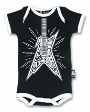 Six Bunnies Rock Guitar Baby Onesie Bodysuit Punk Alternative Tattoo Cute Gift