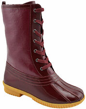 $495 MARC JACOBS Red Leather RAINPROOF Mid Calf Fur Boots Shoes NEW COLLECTION
