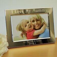 Personalised 6x4 Silver Plated Photo Frame I Love Mummy, Mum, Mothers Day Gift