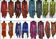 Fashion 8 Colors Lady's Butterfly Double Side Pashmina Silk Wrap Shawl Scarf 78