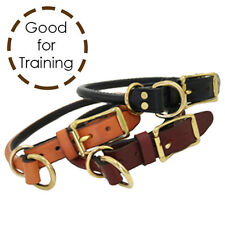 New Auburn Leathercrafters Quality Dog Rolled Leather Combination Choke Collars