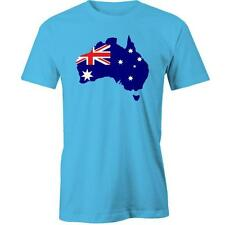 Australian Map Flag T-Shirt Australia Day Aussie Australian Tee New